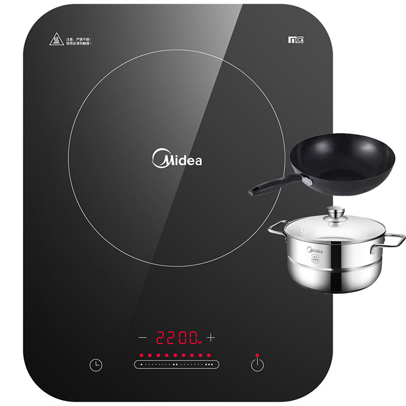 Midea Induction Cooker Home WH2237 Intelligent High power Hot Pot Battery Cooker Genuine 2 3 4 People Hotpot Electric Stove