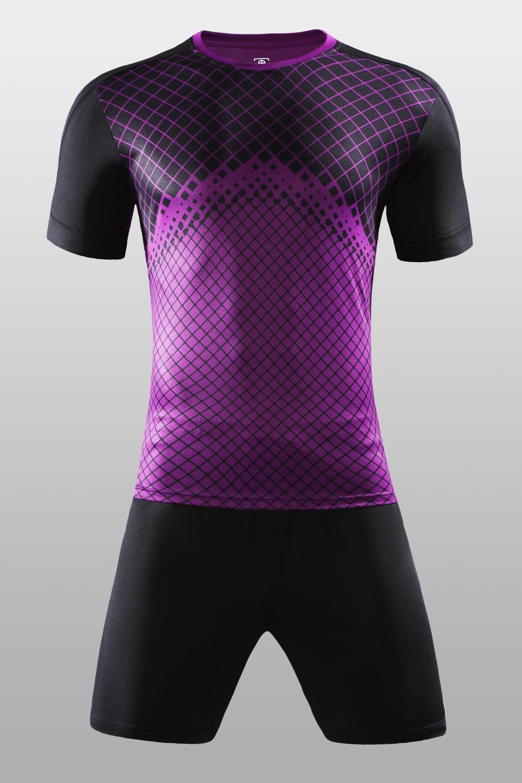 ebc516630cc Free Shipping New 2018 Nice Purple Color Men s Soccer Jerseys Set Custom  Name Futbol Club Uniforms Football Team Kit Suit Jersey