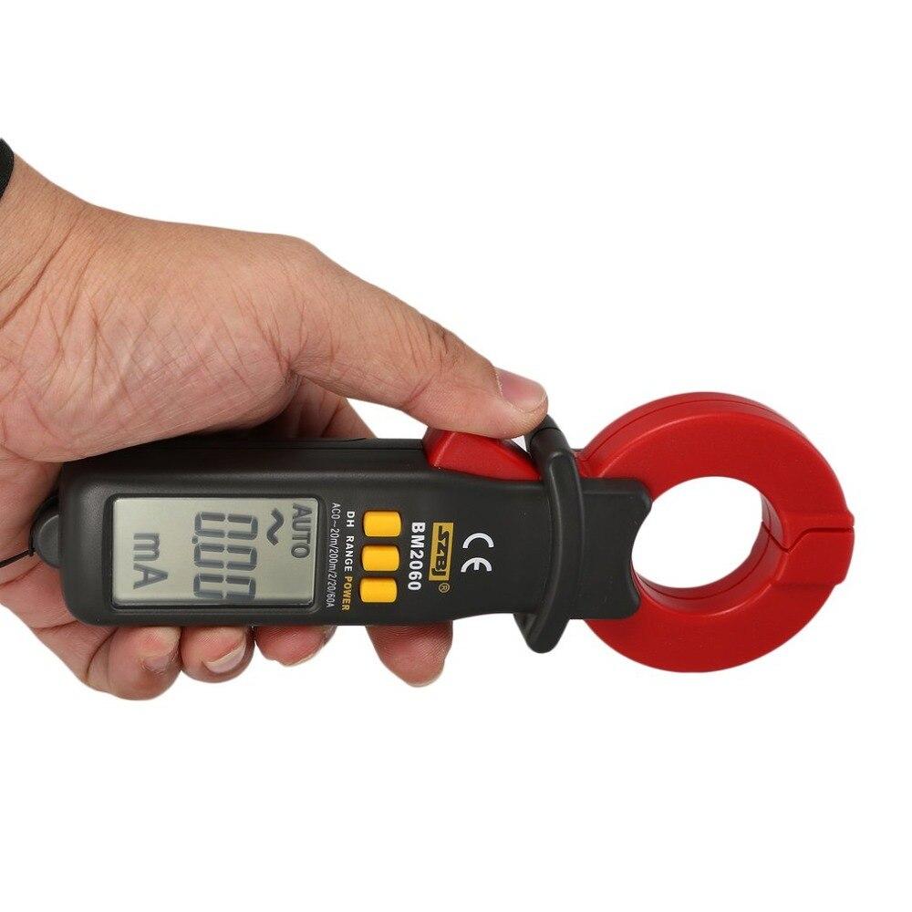 SZBJ BM2060 digital abrazadera de corriente metros multímetros Micro eléctrica abrazadera de corriente ampere Medidor de rango Manual de retención de datos
