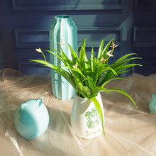 Outdoor Real Touch Orchids Leaves With Flowers Free Shipping Decoration  Flower Artificial Hotel Shopping Mart Party