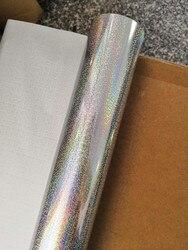 Heißprägefolie holographische folie silber kleine chaos muster heißer drücken sie auf papier oder kunststoff wärme transfer film 64 cm x 120 m