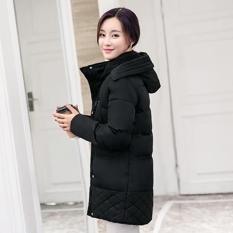 Plus Size 3XL Lambs Wool Jacket Coat Women Hooded Plus Velvet Thicken Winter Jacket Women Warm