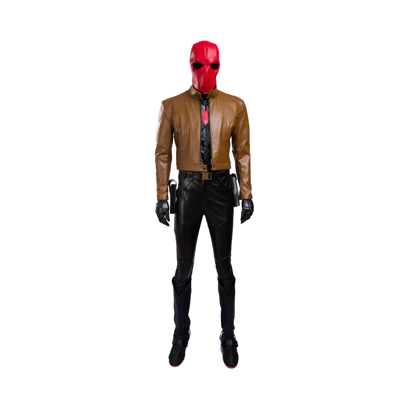 Jason Peter Todd Cosplay Batman Red Hood Costume SuperHero Costume Full Set Uniform Halloween Carnival For Adult Men