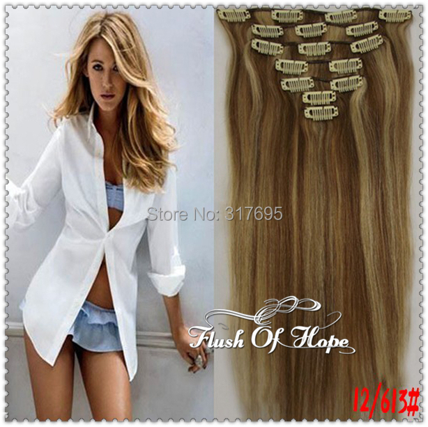 22inch 70gramset 7pcsset 16 Clips In Hair Extensions Piano