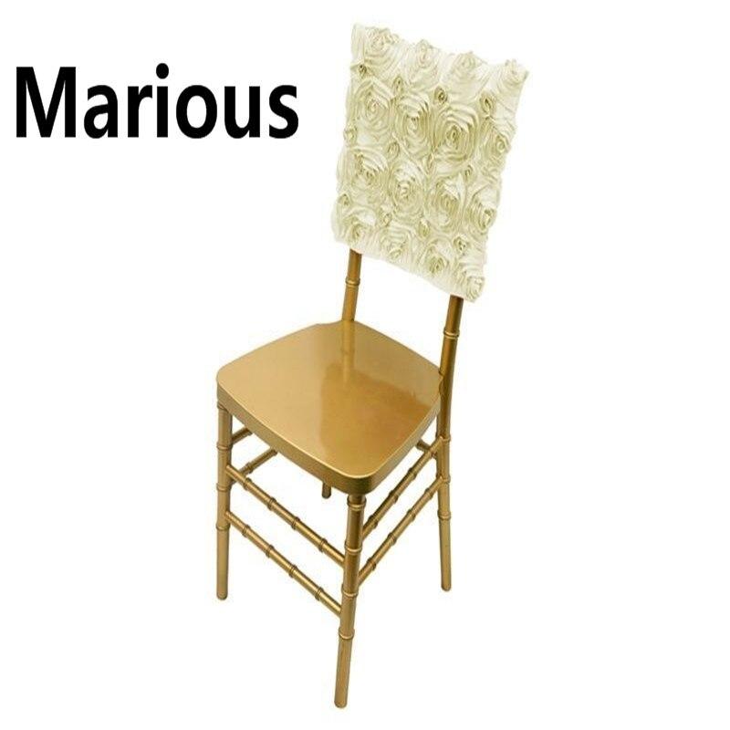 Wholesale cheap rosette chair hood wedding 100pcs chair hood purple/blue/red chair cover sashes satin chair sashes free shipping