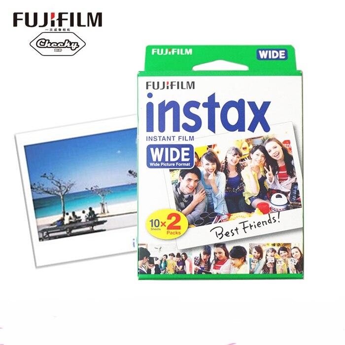 High qulaity Original Fujifilm Instax Instant Wide Film 20 White Sheets For 300 200 210 100