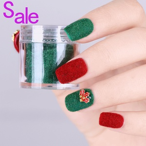 1 Box Fuzzy Flocking Velvet Nail Powder Peal Pearl Glitter Sequins Dust Magnetic Pigment Nail Decoration