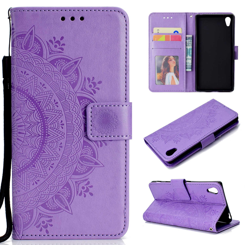 Роскошный кожаный держатель для кредитных карт, чехол для смартфона sony Xperia XZ2 Mini XZ3 XA2 ultra Z3 Z5