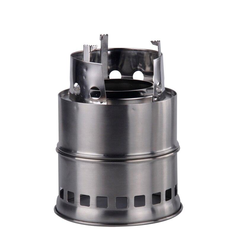 경량 Portable Woodgas Stove Foldable Solidified Alcohol Burners 스테인레스 스틸 캠핑 조리기구