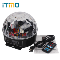 27W US EU Plug Stage Lighting Effect Light LED Crystal Magic Ball Bulb For Party Disco