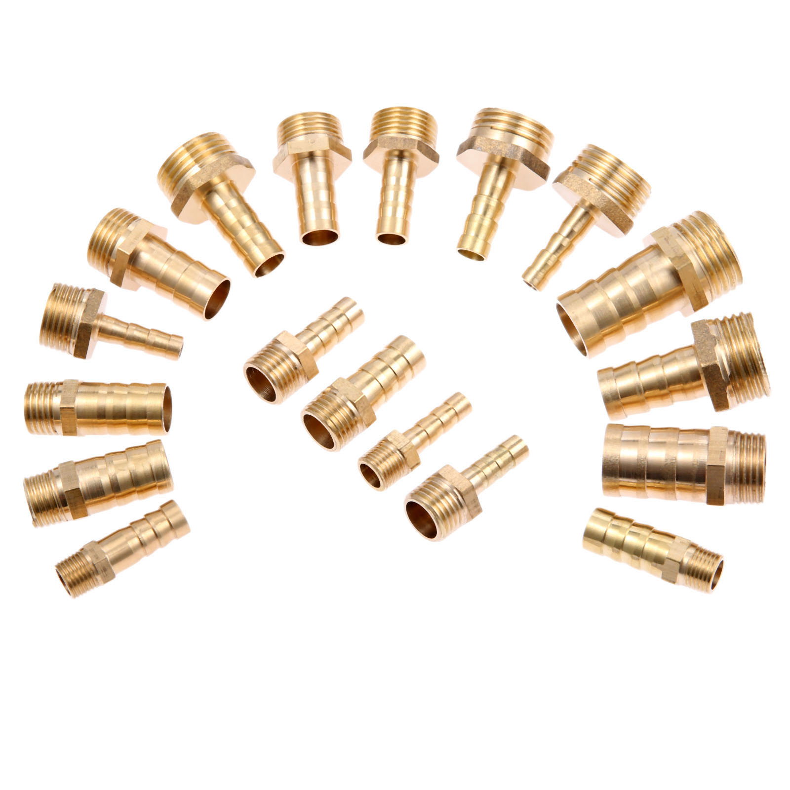8mm to 4mm Hose ID Brass Reducer Barb Hose Fitting Straight Connector Coupler