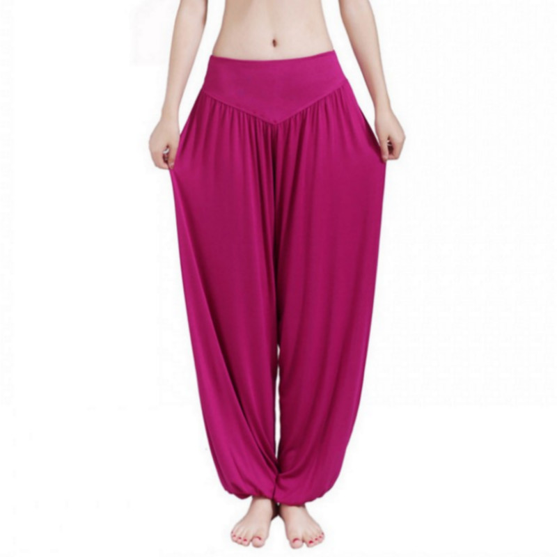 New Women Casual Harem Pants High Waist Dance Pants Woman Fashion Wide Leg Loose Trousers Bloomers Pants Womens Plus Size