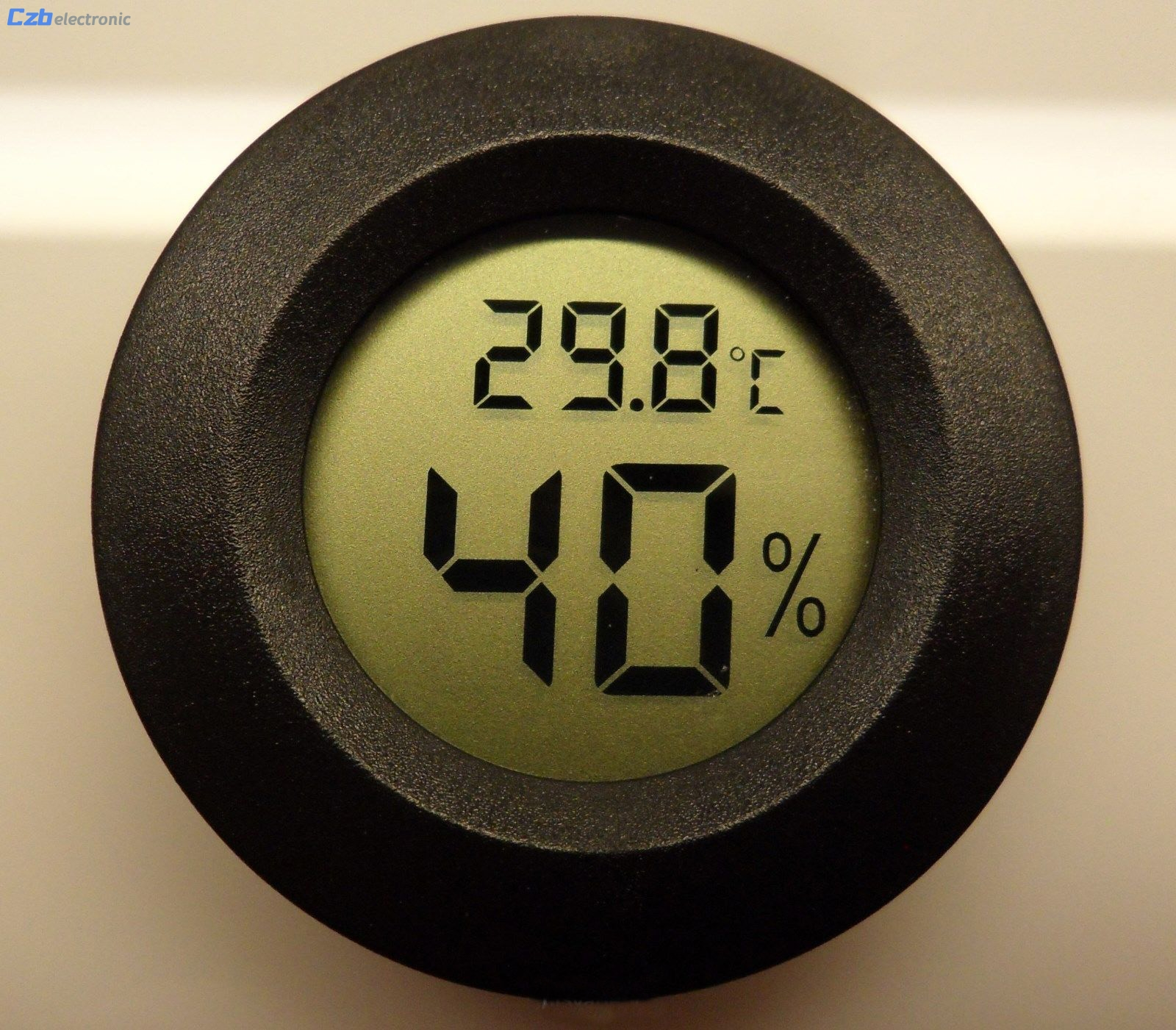 E74 Digital Cigar Humidor Hygrometer Thermometer Round Black Face