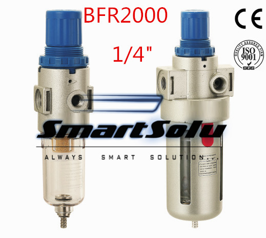 цена Free Shipping  Airtac BFR 2000 Source Treatment Unit , Pneumatic 1/4 Air Filter Regulator With Pressure Gauge + Cover