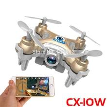 Envío libre rc drone fpv cheerson cx-10w cx10w mini wifi 2.4G 4CH 6-Axis Quadcopter Con $ NUMBER MP HD Cámara Helicópteros de Juguete regalos