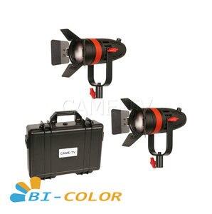 Image 1 - 2 pces CAME TV boltzen 55w fresnel focusable led bicolor kit F 55S 2KIT led luz de vídeo