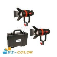 2 pièces CAME TV Boltzen 55w Fresnel focalisable LED bi couleur Kit F 55S 2KIT Led éclairage vidéo