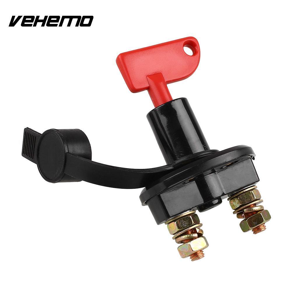 Vehemo автомобильный аккумулятор отсоединяющий выключатель отсекающий Быстрый выключатель питания со съемным ключом 2-Post
