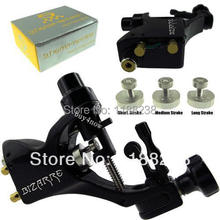 Wholesale Price Stigma Bizarre V2 rotary Tattoo Machine gun Black+3 Stroke excenter Allen Key needles grip Free Shipping