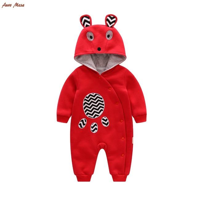 Nueva Primavera 2017 Bebé Mameluco Animal Encantador Del Bebé Playsuit Jumpsuits Ropa de Una Pieza Recién Nacido