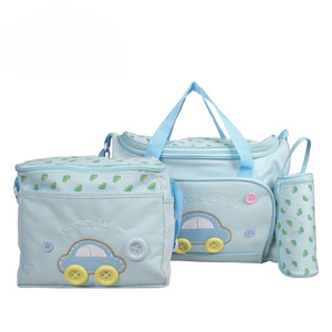 Image 2 - Baby Maternity Bolsa MaternidadeDiaper Bags 3Pcs/Set Diaper Package Changing Nappy With Capacity Bag Nappy Changing Tote T0038