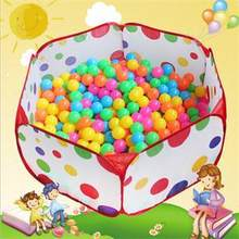 Popular New 120cm Kid Portable Outdoor Indoor Fun Play Toy Tent House Playhut Hut Ball Pool(China)