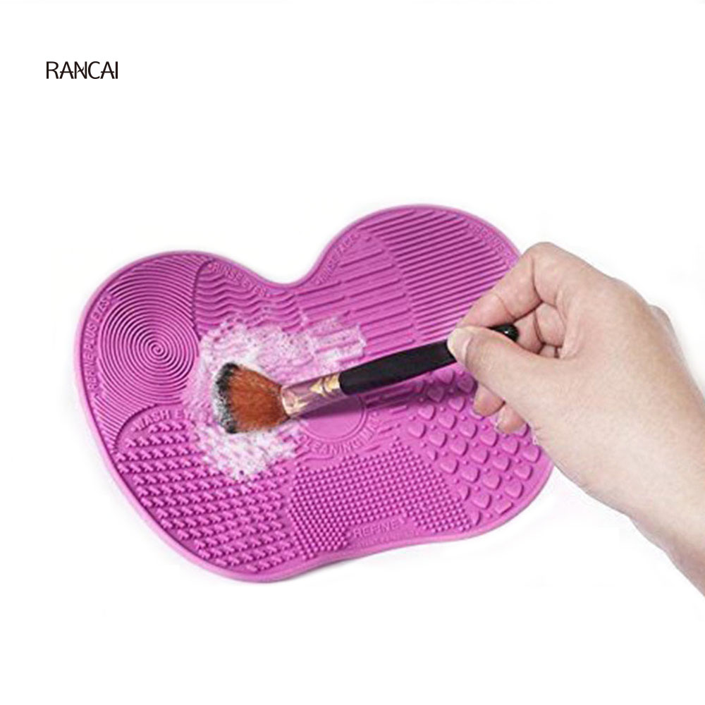 Rancai 1pcs Silicone Brush Cleaning Mat Make Up Brush