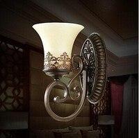 Lámpara De Pared artística europea Vintage para sala De estar iluminación del hogar vidrio LED Pared Sconce Arandela Lamparas De Pared