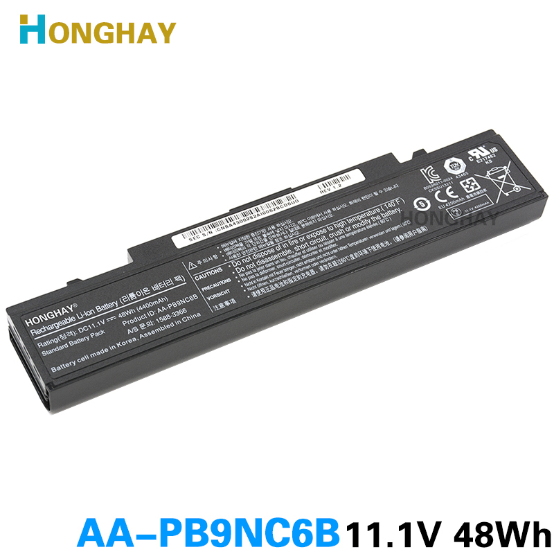 HONGHAY AA-PB9NC6B Laptop Battery For Samsung PB9NS6B PB9NC6B R580 Q460 R468 R525 R429 300e4a RV511 R528 RV420 RV508 355v5c R428