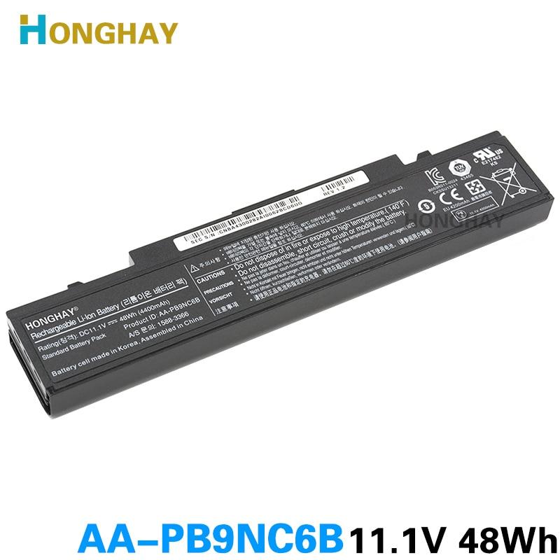 HONGHAY AA-PB9NC6B batería del ordenador portátil para Samsung PB9NS6B PB9NC6B R580 Q460 R468 R525 R429 300e4a RV511 R528 RV420 RV508 355v5c R428