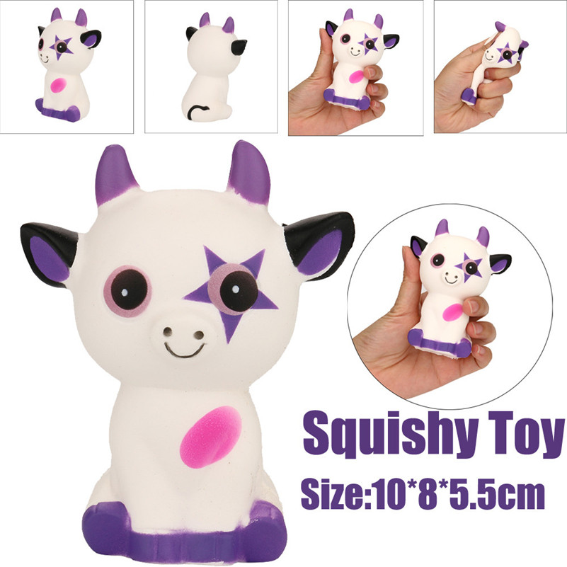 1PC Squeeze Ox Horn Cat Cream Bread Scented Slow Rising Toys Phone Charm Gifts Toy For Kid Slow Rising Wipes Anti-stress Toys A1