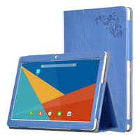 For Teclast 98 Octa Core Cover Case Print PU Leather Folding Stand Hand Holder Case For
