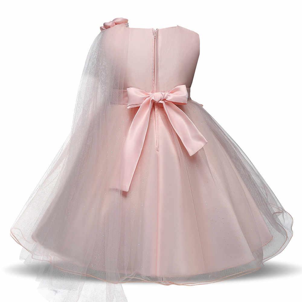MUQGEW bebé niña vestido de cumpleaños encaje chica princesa dama de honor concurso tutú vestido de tul fiesta vestidos de boda vestido infantil