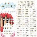 2015 NUEVO 50 Unids/lote BLE1852-1862 Alta Calidad Nail Art Secuaces de Dibujos Animados Patrón de Impresión de Transferencia de Agua Nail Art Sticker Decal 1