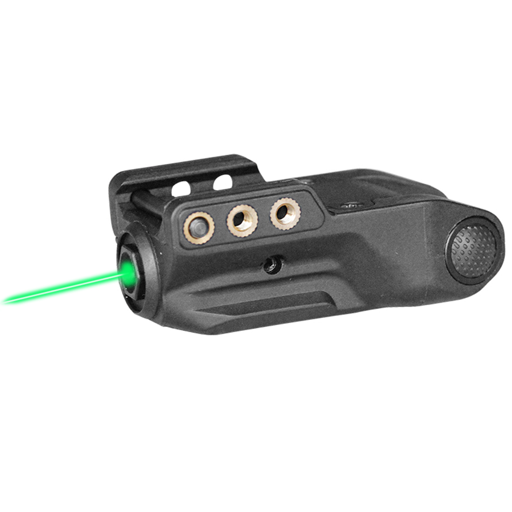 Laserspeed Low Profile Green Laser Sight Built-In Rechargeable Battery Subcompact Green Laser Fit Airsoft Glock Railed Pistol