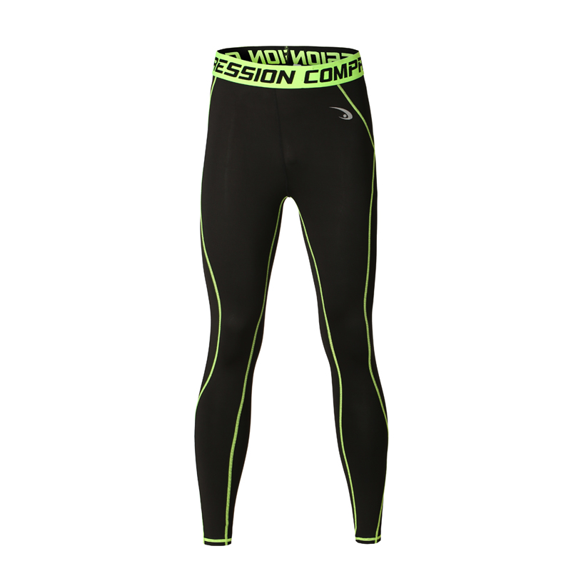 Special sales Coolmax Quick Dry Mens Full Length Pants Black Casual Stretch Tight Compression Mens pants