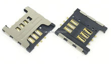 100pcs SIM Card Slot Reader Holder Connector SIM Card Socket for samsung I9000 i699 3520 S6358 S6108 S6102 KA 068 card Connector