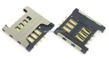Разъем для считывания SIM карт, разъем для samsung I9000 i699 3520 S6358 S6108 S6102, Разъем для карты, 100 шт.