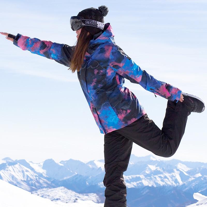 Womens outdoor 2019 new ski suit womens snow jacket mountaineering snow pants waterproof windproof warm jacketWomens outdoor 2019 new ski suit womens snow jacket mountaineering snow pants waterproof windproof warm jacket
