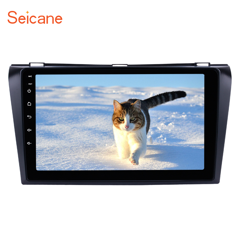 Seicane 2 Din 9 Android 8,1/7,1 Multi-Touch радио gps навигация для 2009-2004 Mazda 3 с Wi-Fi AUX FM/AM Bluetooth