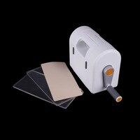 ForeWan 1pc Die Cut Machine + 2pcs Transparent Subplates + 1pc Silicone pad Stencil Create Scrapbooking DIY Paper Album Cards
