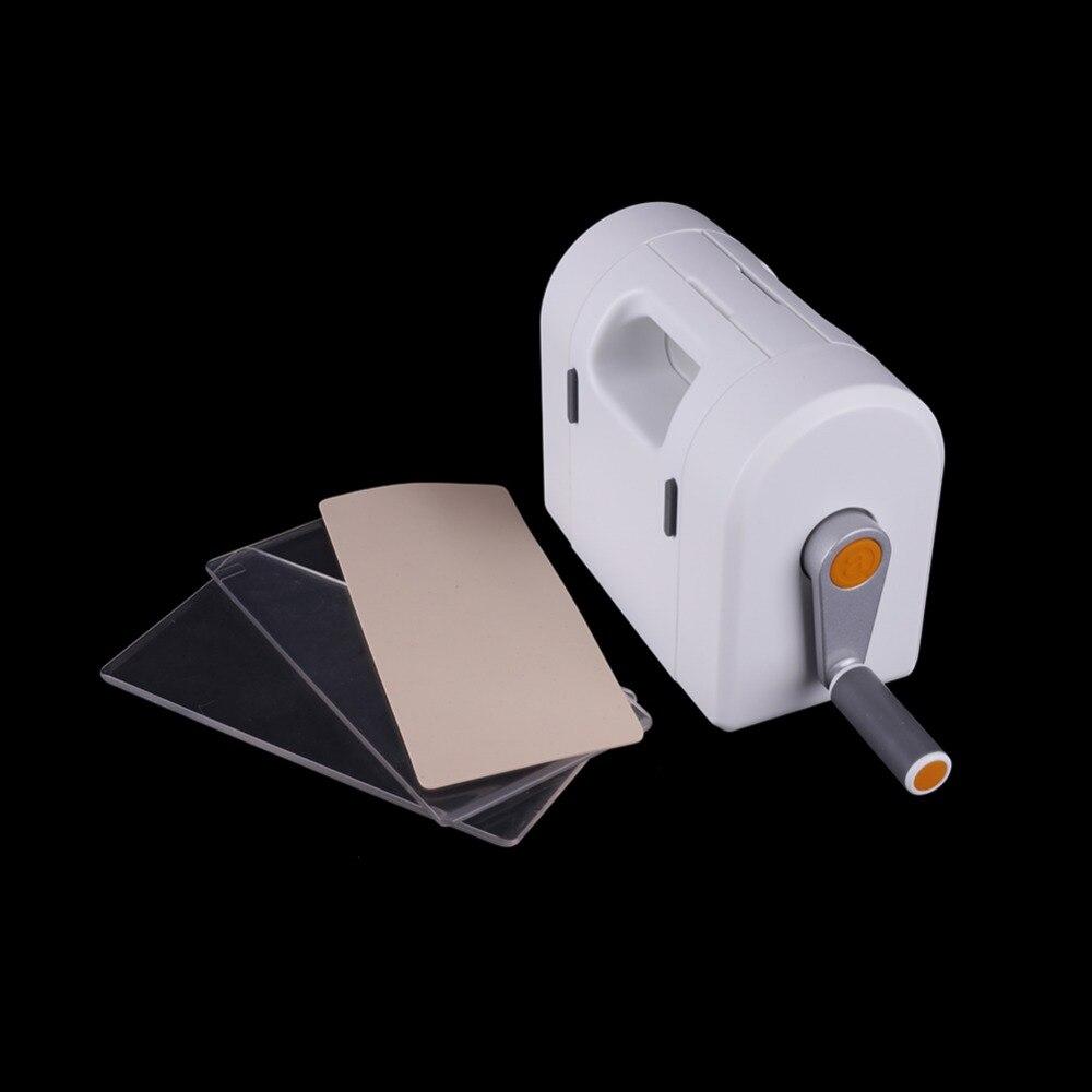 HamyHo 1 pc Machine de Découpe + 2 pièces Transparent Embases + 1 pc coussin En Silicone Pochoir Créer Scrapbooking papier pour bricolage Album Cartes