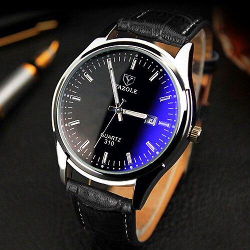 d6830d59049 YAZOLE עסקים עליון מותג יוקרה מפורסם גברים שעון קוורץ שורש כף יד שעונים  לגברים שעוני יד Relogio Masculino עם תאריך שעון זכר
