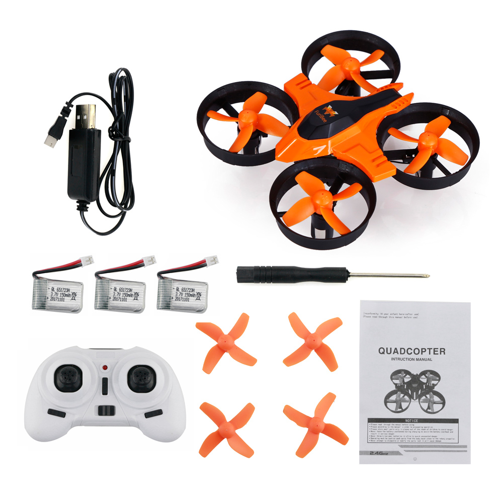 FuriBee F36 Mini 2.4GHz 4CH 6 Axis Gyro RC Quadcopter LED Headless Speed Switch 3D Rollover H36 h8 h20 Helicopter Drone Dron