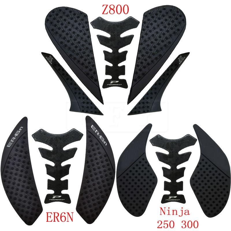 For Kawasaki ER6N 2006-2019 Z800 2012 To 2016 2017 2018 2019 Ninja 250 300 Z250 Z300 2013-2019 ER6N Anti Slip Tank Pad Stickers