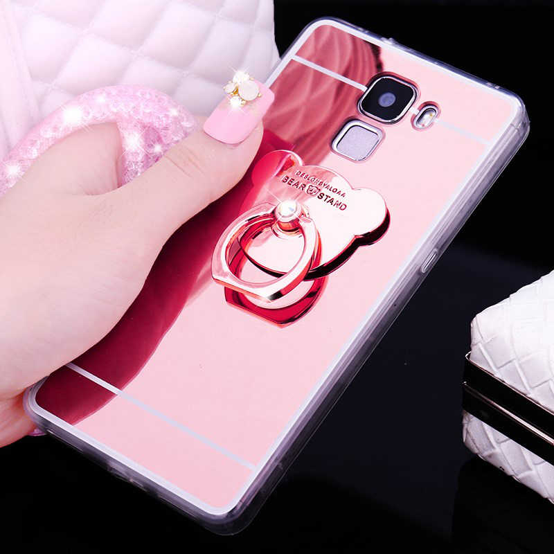 Luxury Mirror Stand Holder TPU Case For Huawei P20 Pro P10 P8 P9 Lite 2017 Honor 10 9 8 Lite 7A 7C Pro Y5 Y6 Prime Y9 2018 Cover