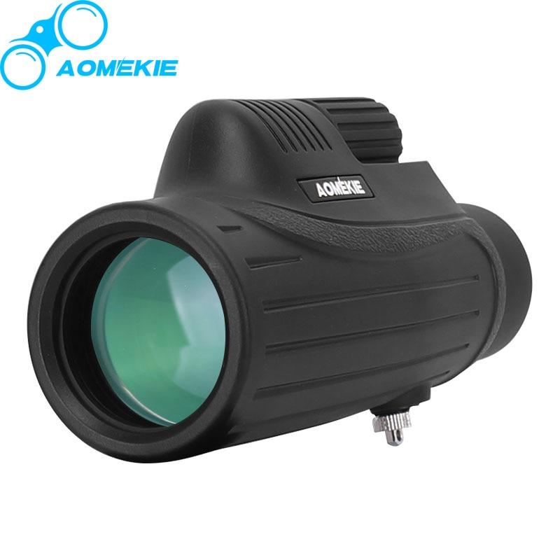 AOMEKIE 10X42 Monocular BAK4 Prism FMC Optical Lens High Power Hunting Birdwatching Telescope Compact Spotting Scope Waterproof  6x30mm compact porro prism fogproof monocular
