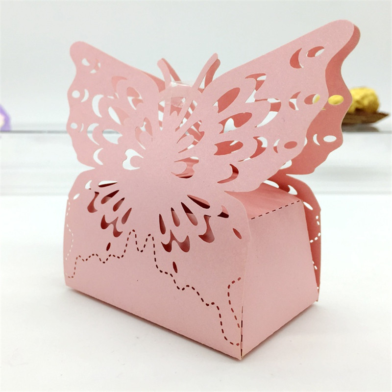 120pcs butterfly wedding candy box wedding favors and for Wedding mailbox decorating ideas