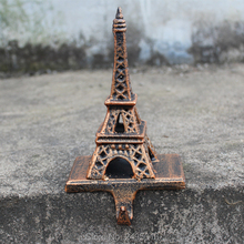 Cast iron EIFFEL TOWER WALL HOOK  ANTIQUE brown