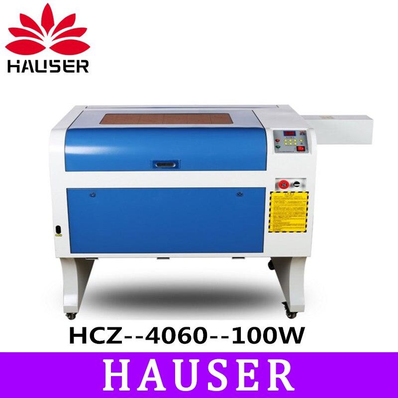 Frete Grátis A HCZ 100 w co2 cortador de laser CNC 4060 máquina de gravação a laser máquina de marcação a laser de mini gravador do laser cnc router diy